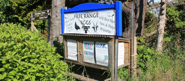 14 Kintaline farm and roadside kiosk, Ruth's coastal walk in Scotland