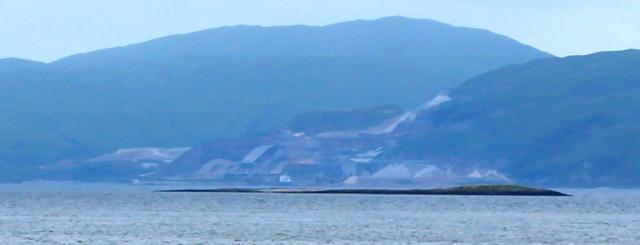 14b huge quarry on other side Loch Linnhe, Ruth Livingstone