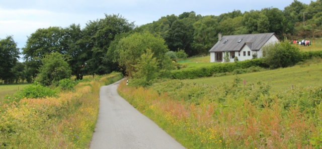 17 cottages along road to Port Appin, Ruth's coastal walk, Scotland