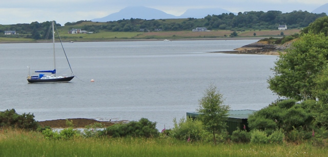 19 view over to Benderloch, Seabank, Ruth's coastal walk