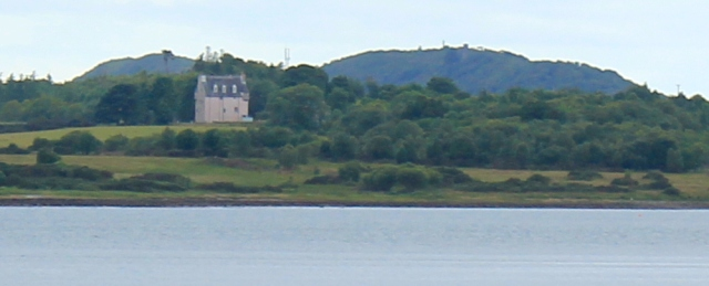 20 Benderloch Castle across Loch Creran, Ruth's coastal walk around Scotland