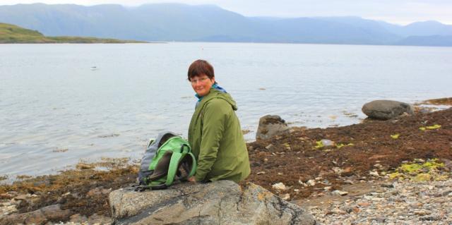 21 picnic time, overlooking Shuna Island, Ruth