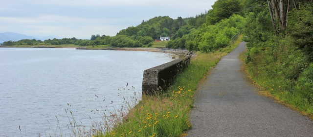 22 cycle route along shore of Loch Linnhe, Ruth's coastal walk