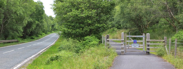 27 cycle route along the A828, Ruth's coastal walk in Scotland