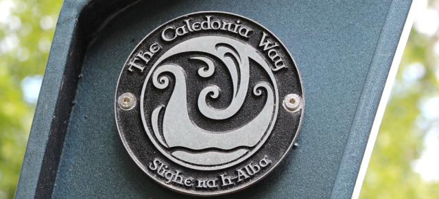 45 Caledonian Way sign, A828, Ruth's coastal walk around Scotland