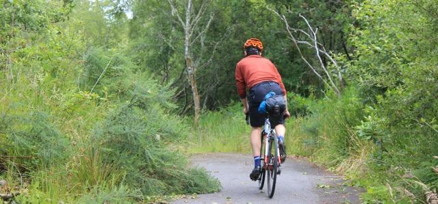46 cyclist on the Caledonian Way, Ruth's coastal walk around Scotland