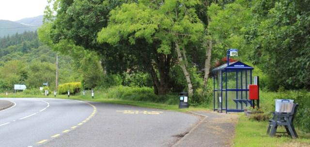 53 Barcaldine bus stop, Ruth's coastal walk around Scotland
