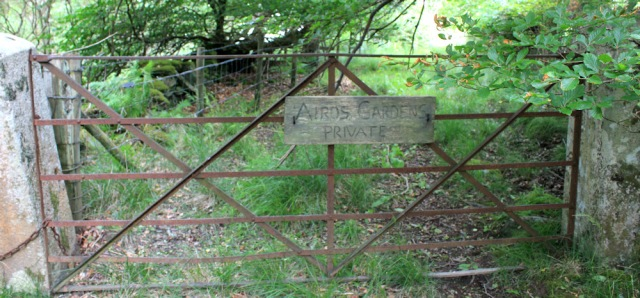 54 Airds Garden Private sign, Ruth's coastal walk to Port Appin