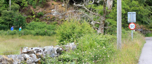 58 footpath to Airds Bay, Ruth hiking to Port Appin