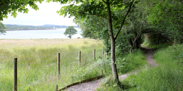 59 footpath to Appin Rocks, Ruth Livingstone in Scotland