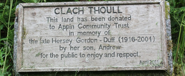63 Clach Thoull donated to Appin Community Trust, Ruth Livingstone