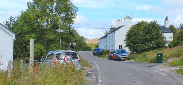 66 walking through Port Appin, Ruth Livingstone in Scotland