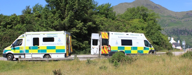 04 ambulance exchange, Ruth's coastal walk, Ardgour