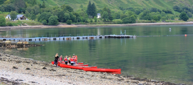 05 canoe lessons, Loch Linnhe, Ruth's coastal walk around the UK, Scotland