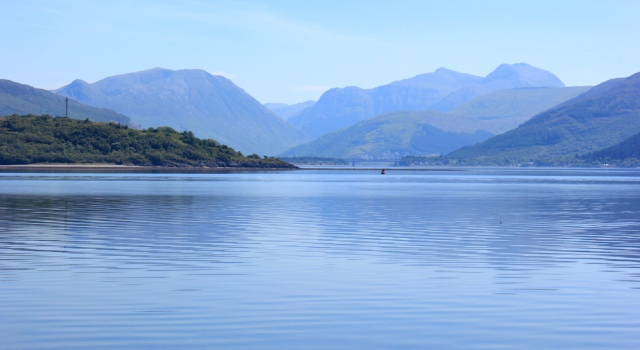 09 view across Loch Linnhe to bridge at Ballachulish, Ruth's coastal walk around Scotland