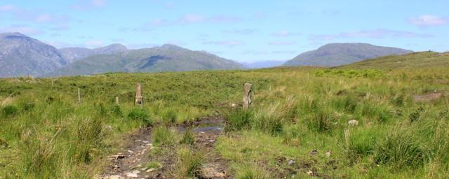 15 track towards Ardsheal Hill, Ruth's coastal walk around Scotland