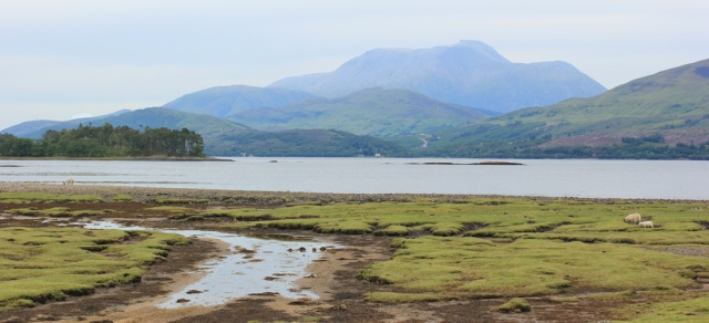 16 Ben Nevis, from Inverscaddle Bay, Ruth hiking around Loch Linnhe