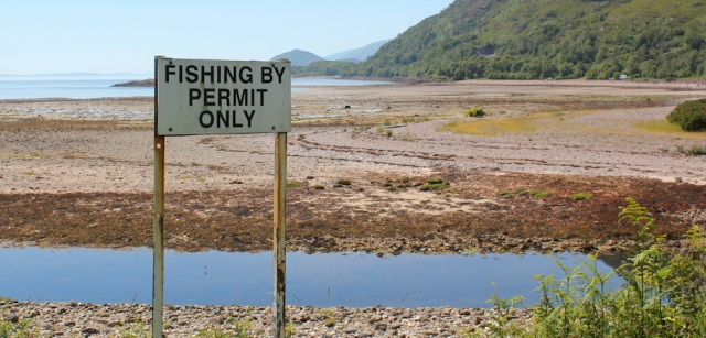 16 fishing by permit only, Ruth's coastal walk around Scotland