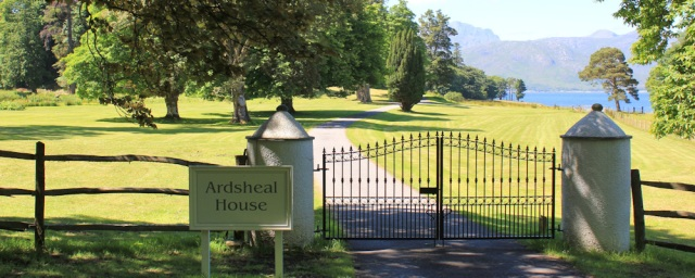 27 Ardsheal House entrance, Ruth's coastal walk around Scotland