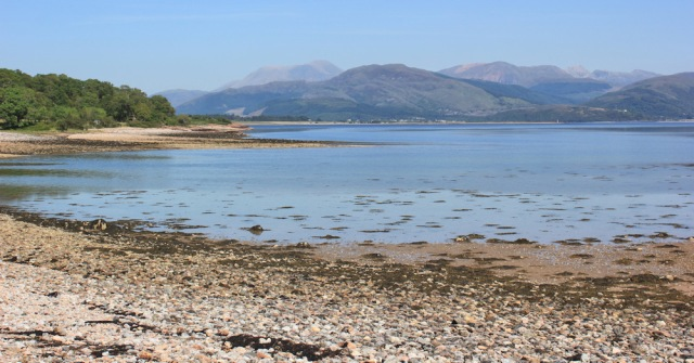 27 view back to Ben Nevis across Loch Linnhe, from Inversanda, Ruth's coastal walk