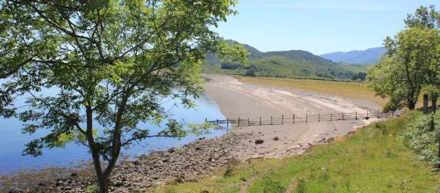 29 fenced beach, Inversanda, Ruth's coastal walk around Scotland
