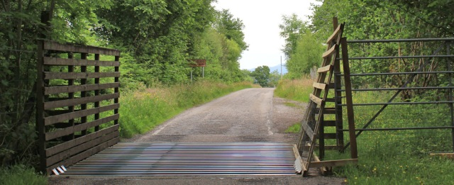 30 cattle grid on A861, Ruth's coastal walk in Scotland