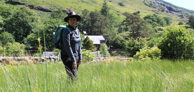 32 Ruth Livingstone in Kentallen, hiking the coast of Scotland