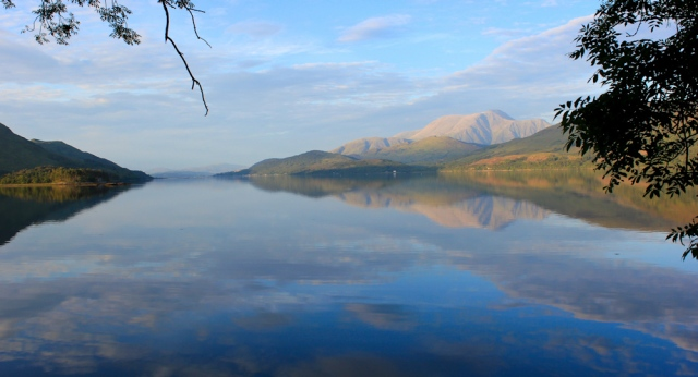 Loch Linnhe at sunset, Ruth Livingstone hiking through the Highlands of Scotland