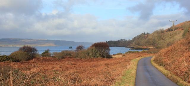 04 road to Drimnin, Ruth hiking around the coast of Scotland, Morvern Peninsula