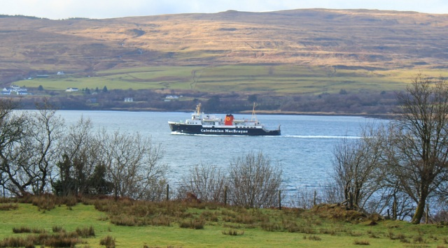 13 Mull ferry, Ruth hiking the coast of Morvern Peninsula to Drimnin