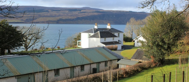 16 Glenmorven Cottage, Ruth walking the coast of Morvern Peninsula