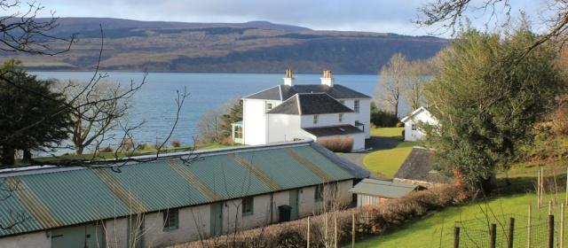 16 Glenmorven Cottage, Ruth walking the coast of Morvern Peninsula