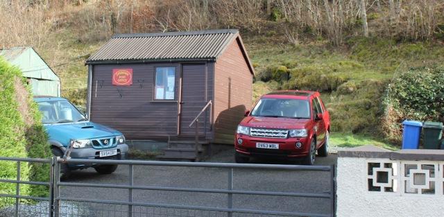 23 Drimnin post office, Ruth hiking the coast of Morvern Peninsula