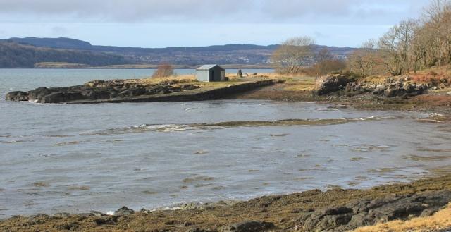 28 slipway, Drimnin, Ruth hiking the coast of Morvern Peninsula
