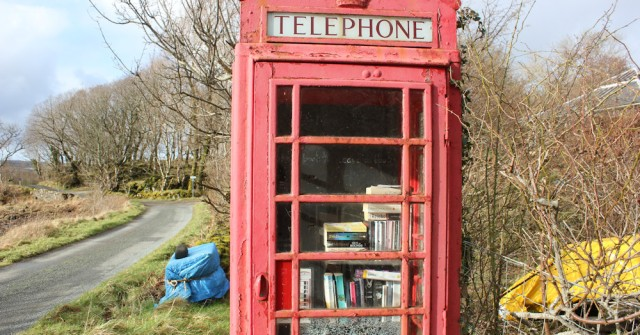 29 library in a phonebox, Drimnin, Ruth Livingstone in Scotland