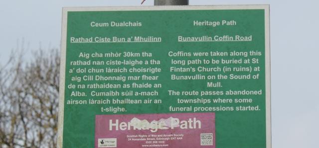 35 Bunavullin Coffin Road, Ruth hiking the coast of Morvern Peninsula