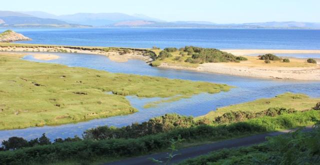 51 looking down on Camas na Croise, Ruth's coastal walk around Scotland