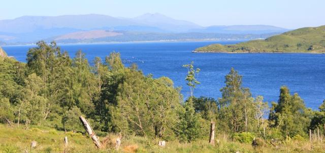 57 over Loch Linnhe, climbing up from Kingairloch, Ruth's coastal walk around Scotland
