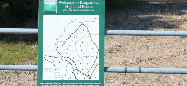 60 welcome to Kingairloch Highland Estate sign, Ruth's coastal walk around Scotland