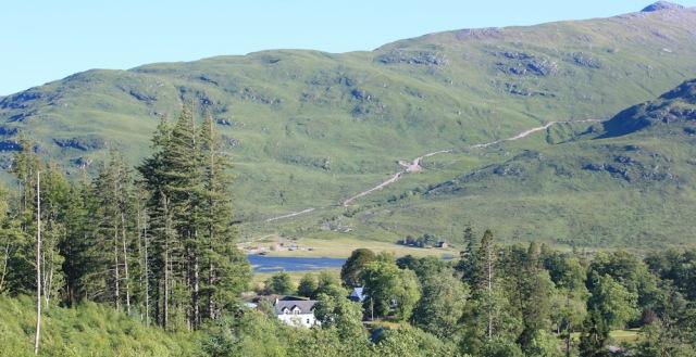 61 road over to Glensanda, Ruth's coastal walk around Scotland