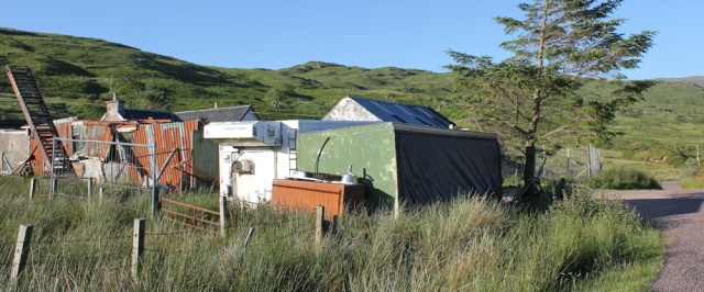 67 kennels, B8043, Ruth hiking around the coast of Scotland