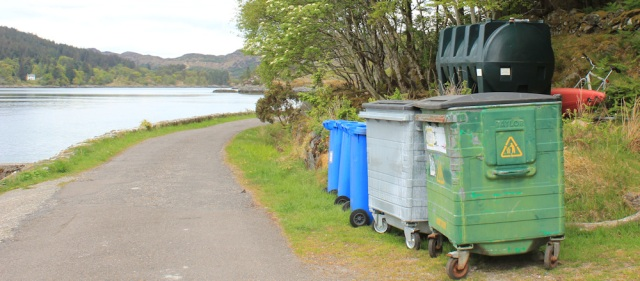 29 bins, Ruth walking towards CastleTioram. Doirlinn, Scotland