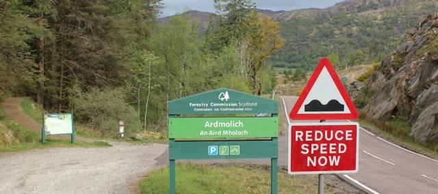 01 Ardmolich, carpark, Ruth's coastal walk, Loch Moidart