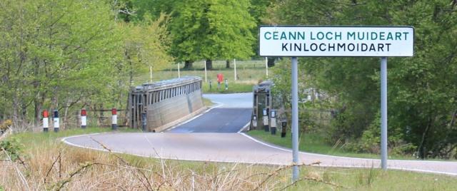 05 bridge at Kinlochmoidart, Ruth hiking in Moidart, Scotland
