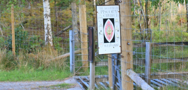 06 sign to church carpark, Kinlochmoidart, Ruth walking the coast of Scotland