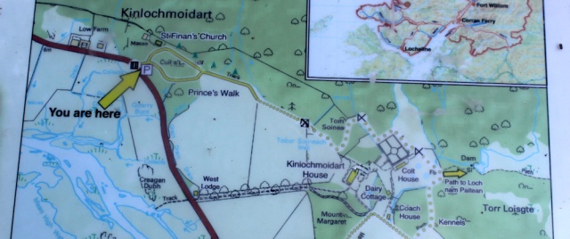 07 map showing Prince's Walk, Ruth hiking around the coast of Scotland