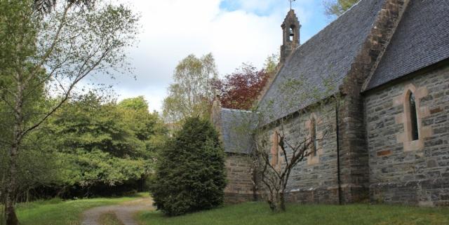08 St Finan's Church, Kinlochmoidart, Ruth hiking around the coast of Scotland