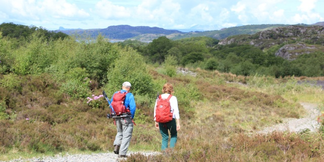 11 hikers in Ardnish, Ruth walking to Arisaig, Scotland