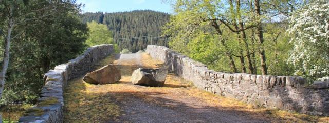 13 old bridge over river at Kinlochmoidart, Ruth hiking around the coast of Scotland