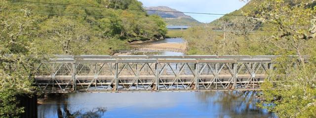 14 new bridge over river at Kinlochmoidart, Ruth Livingstone hiking around Scotland